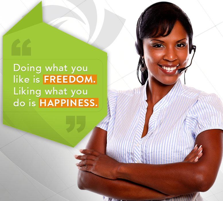 telephone customer service representatives working from home working from laptop for Arise
